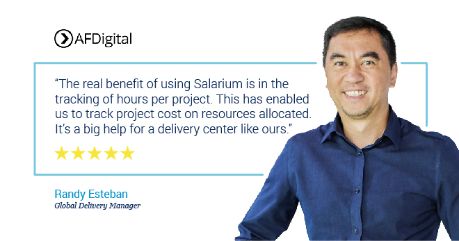 Salarium Review on Tracking of Project Hours by Randy Esteban of AFDigital
