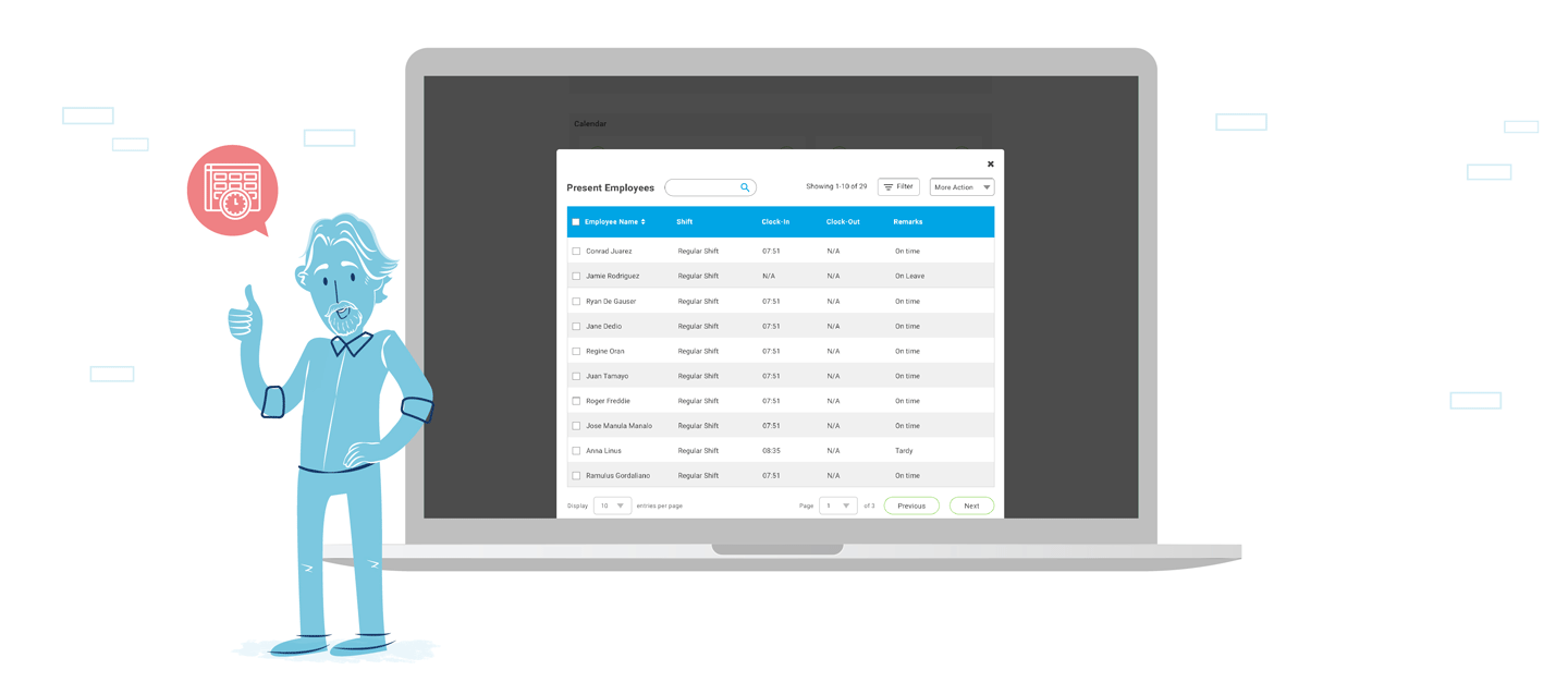 View employee time logs in real-time