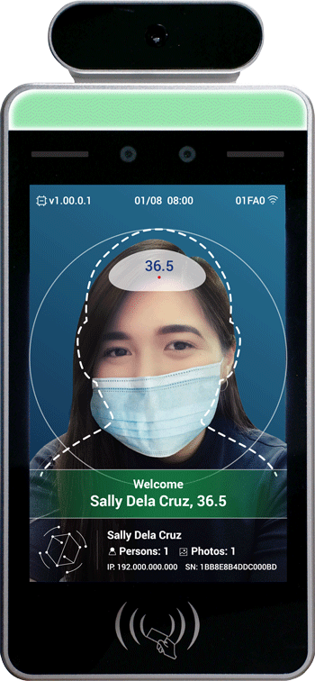 S.A.F.E. Tech accurately recognizes employees in seconds even with their facemasks and face shields on