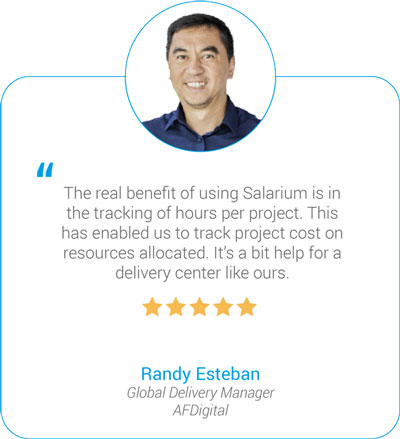 Salarium Review on Tracking of Projects by Randy Esteban of AFDigital