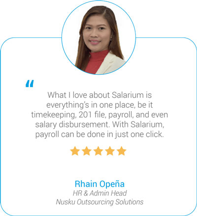 Salarium Timekeeping, Payroll and Disbursement Review by Rhain Opeña of Nusku Outsourcing Solutions